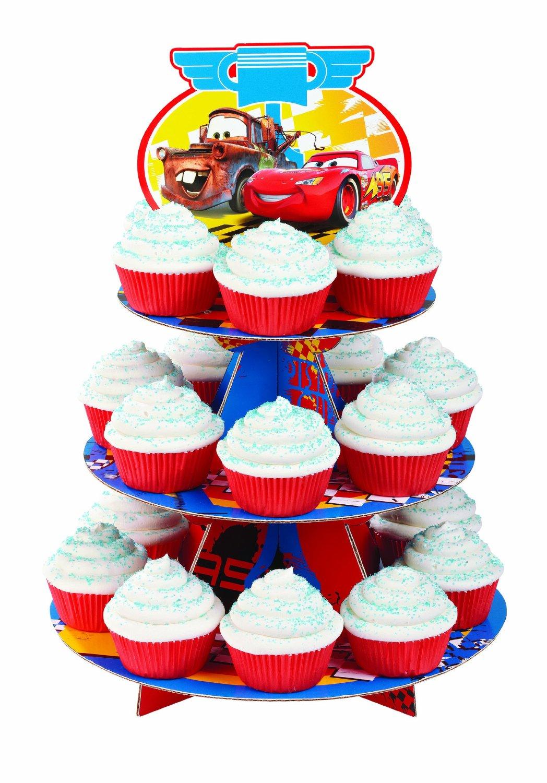 cars cupcake stand