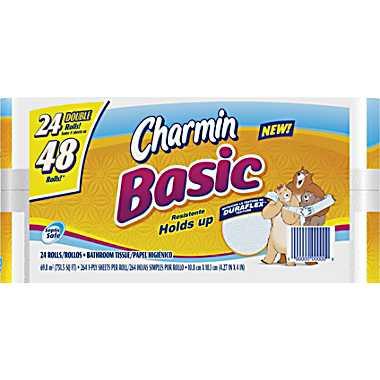 charmin 24 double rolls staples