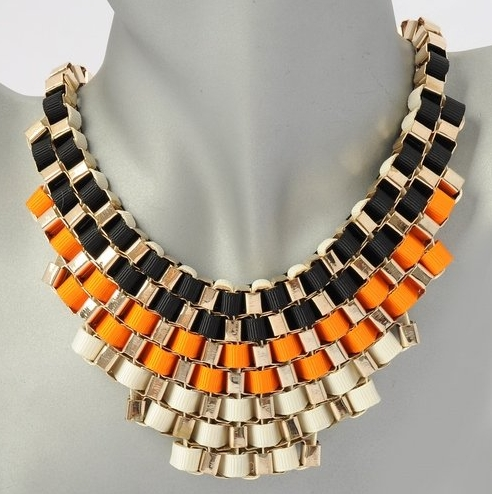 gold-orange-black-necklace-ribbon