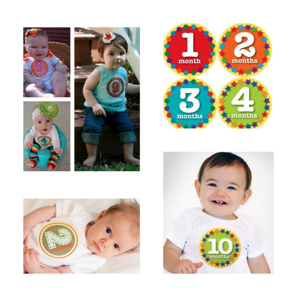 Monthly Onesie Stickers1
