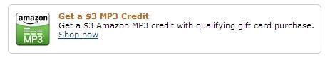 amazon mp3 giftcard credit