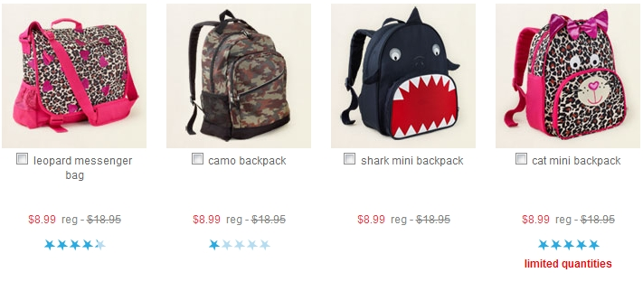 childrens place bookbags