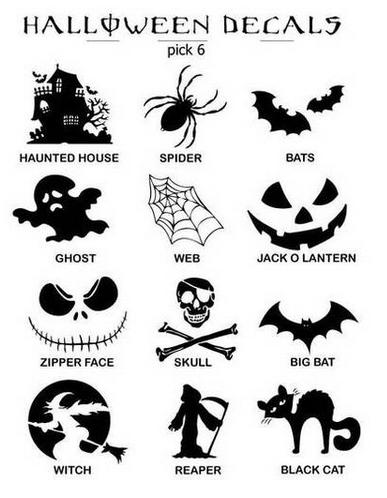 halloween decals pick 6