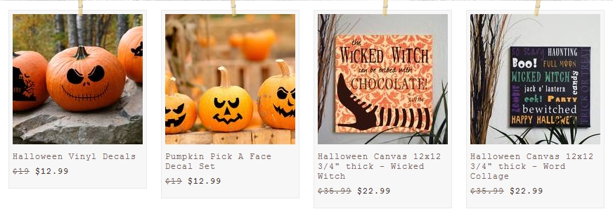halloween sign and decals
