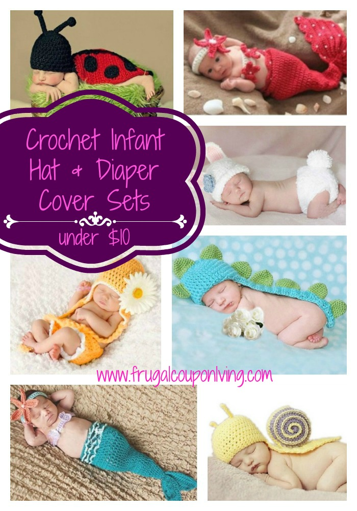 Crochet-Infant-Hat-and-diaper-cover-sets-frugal-coupon-living