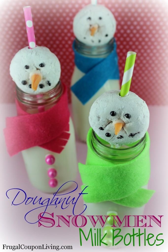 Doughnut-Snowmen-Milk-Bottles-Recipe-Frugal-Coupon-Living