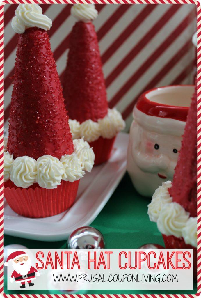 Santa-Hat-Cupcakes-recipe-FRUGAL-coupon-living