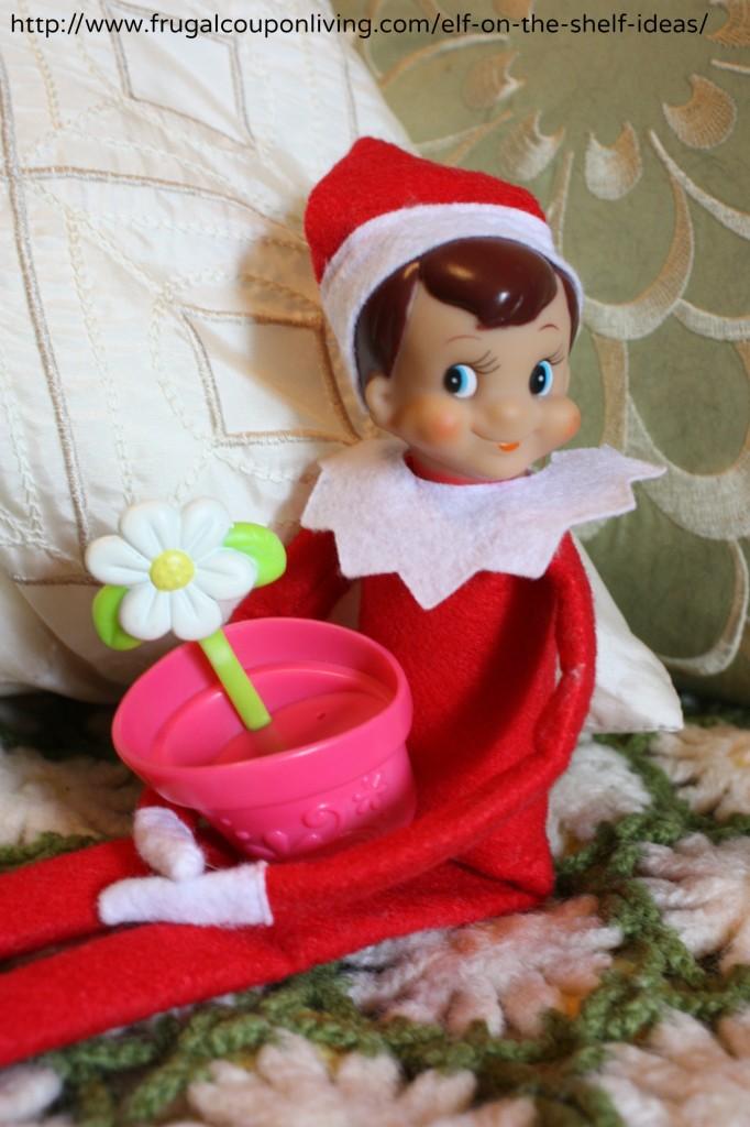 elf-on-the-shelf-ideas-flower-pot-frugal-coupon-living