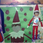 Elf on the Shelf Paints a Portrait - Ideas for School