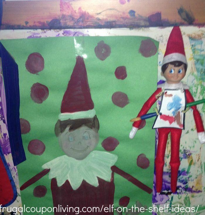 Elf on the Shelf Paints a Portrait - Ideas for School