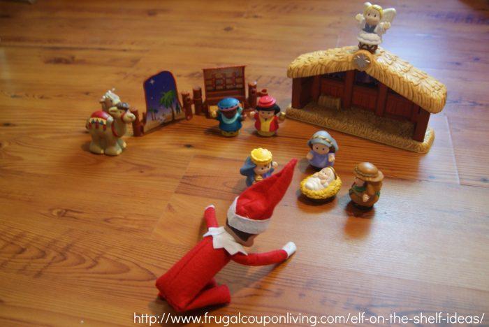 Elf on the Shelf nativity