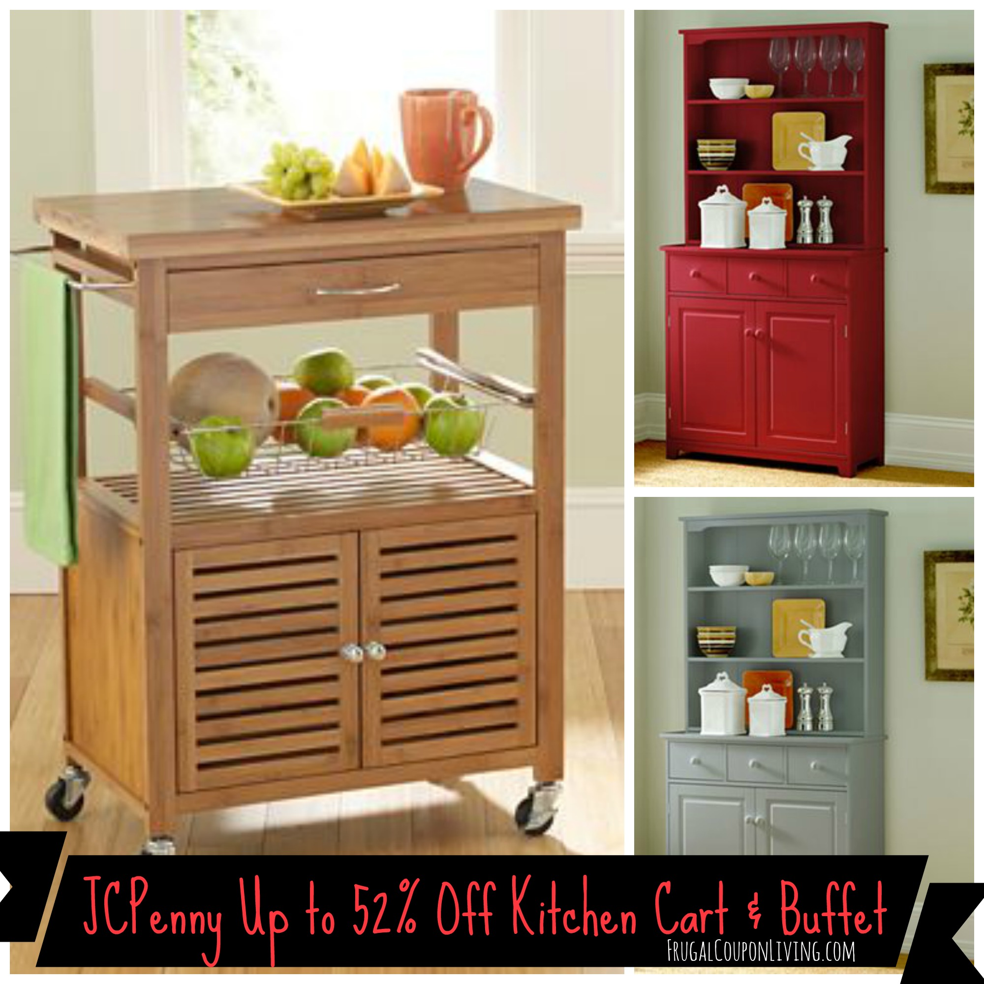 Jcpenney Save On Mandalay Bamboo Kitchen Cart Lindale Buffet Twin Sleeper Up To 52 Off