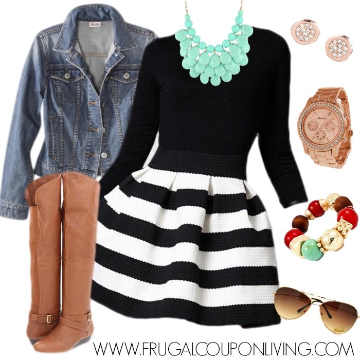 Black-White-Stripe-Dress