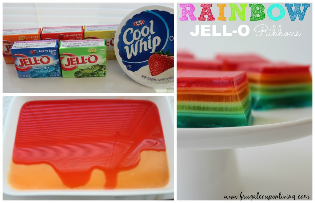rainbow-jell-o-ribbons-squares-recipe-collage-frugal-coupon-living