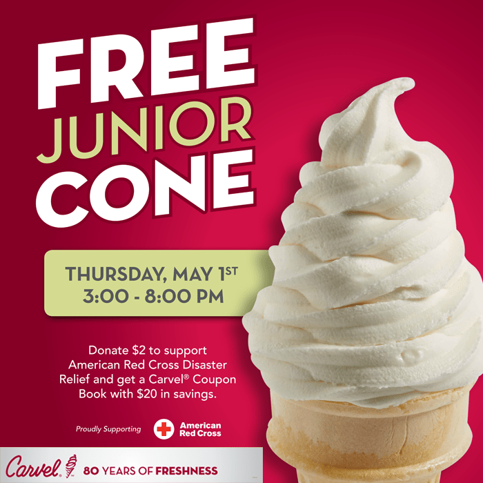 free carvel jr. cone