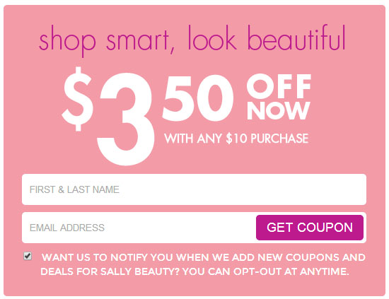 sally beauty supply coupon and sweepstakes