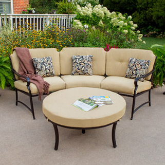 Better Homes and Gardens Paxton Place Curved Sectional Set with Ottoman
