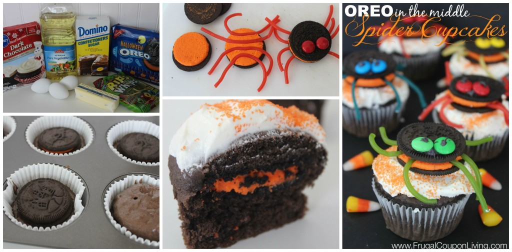 halloween-oreo-spider-cupcakes-frugal-coupon-living-collage