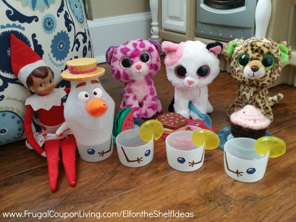 Elf-On-The-Shelf-Ideas-Frugal-Coupon-Living-tea-party-with-olaf