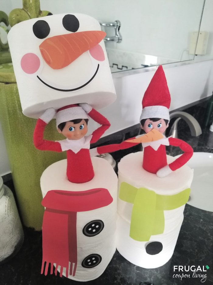 Easy Elf on the Shelf Toilet Paper Snowman Printable