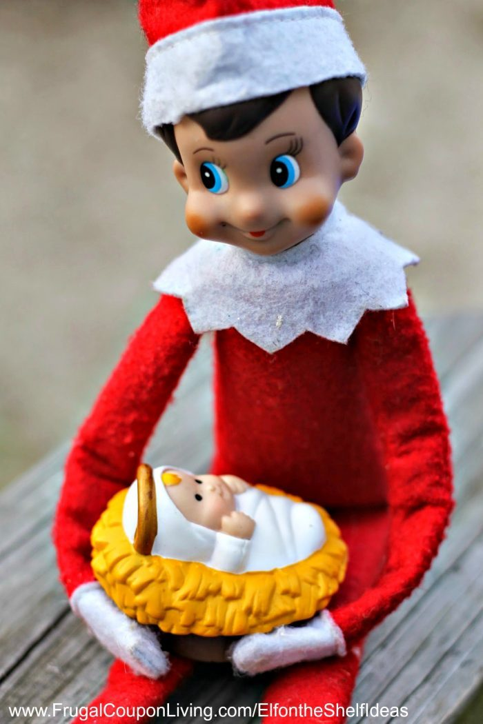 Elf on the Shelf Ideas for Toddlers | Elf Baby Jesus