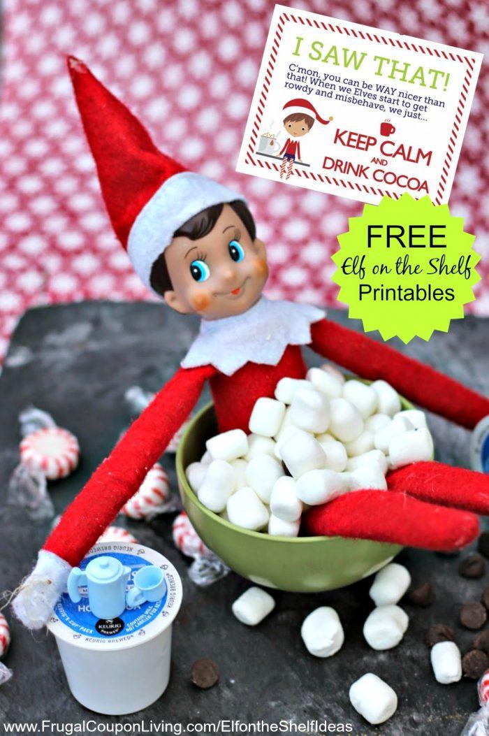 Elf on the Shelf Marshmallow Hot Cocoa Bath & Elf Notes Printables