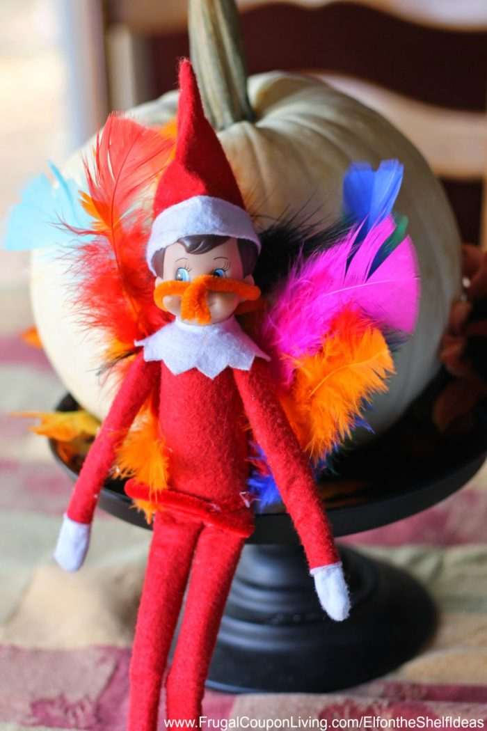 DIY Elf Turkey & Elf on the Shelf Thanksgiving Ideas