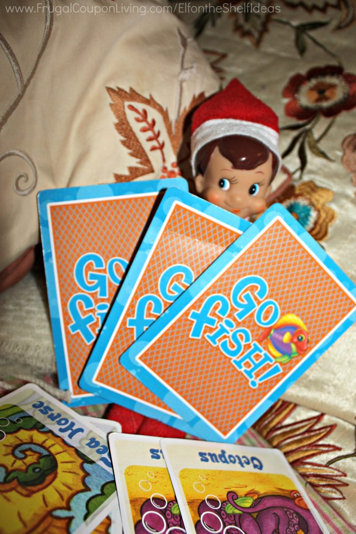 Elf on the Shelf Go Fish Game & Elf Ideas with Games