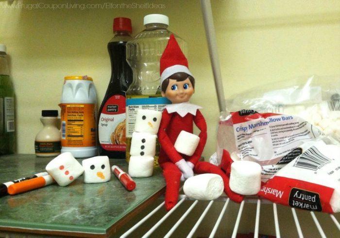 Elf on the Shelf Marshmallow Snowman