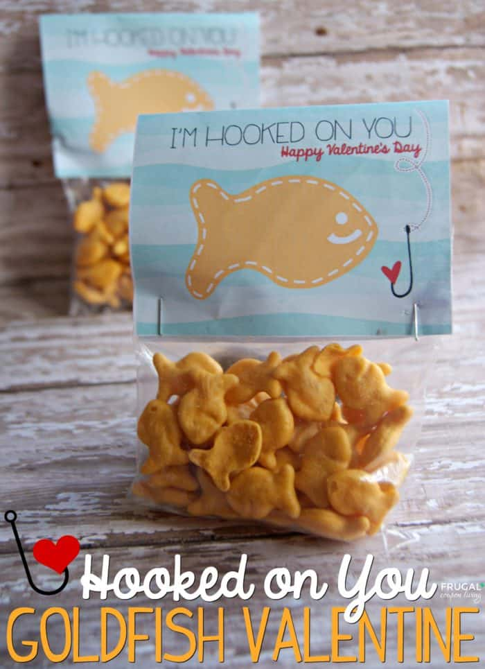 Goldfish Hooked on You valentine