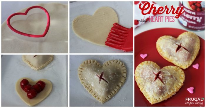 Valentine's Day Mini Cherry Heart Pies