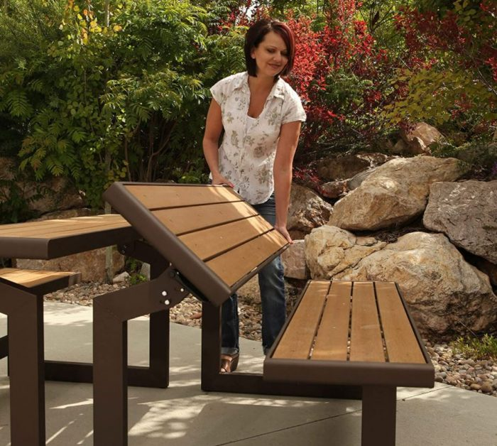 how to fold lifetime convertible bench