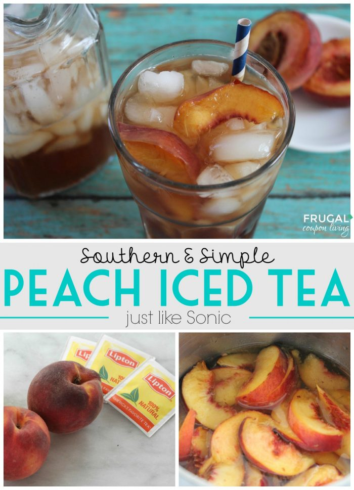 Simple & Southern Peach Iced Tea - Like Sonic
