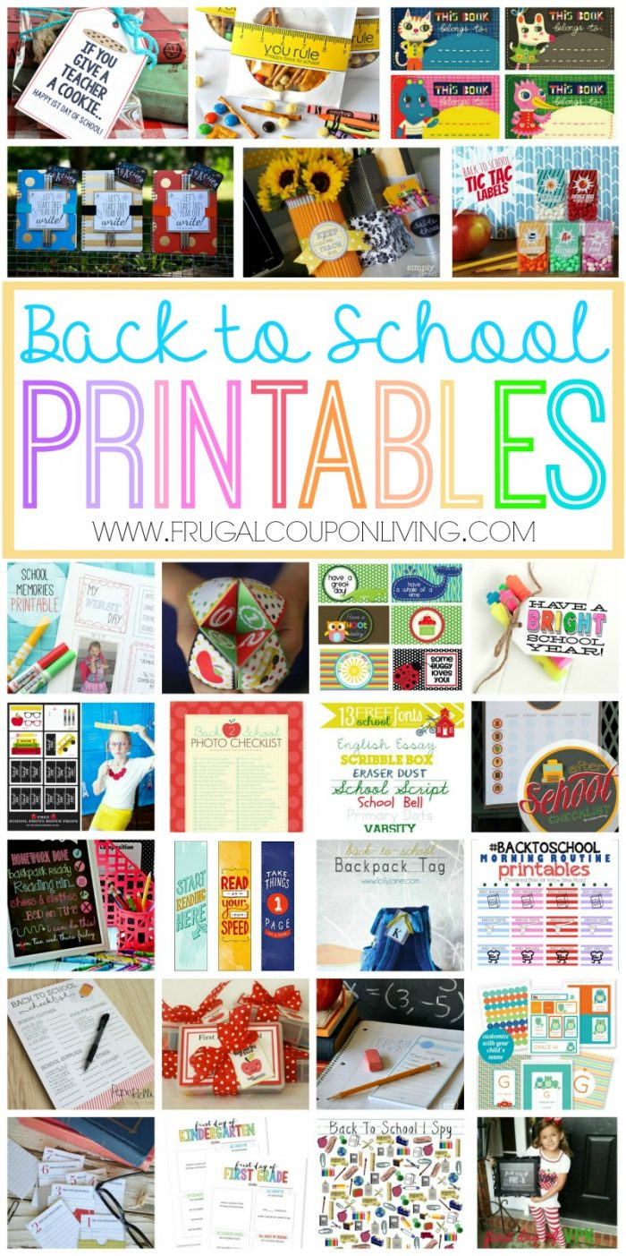 the best back to school printables free