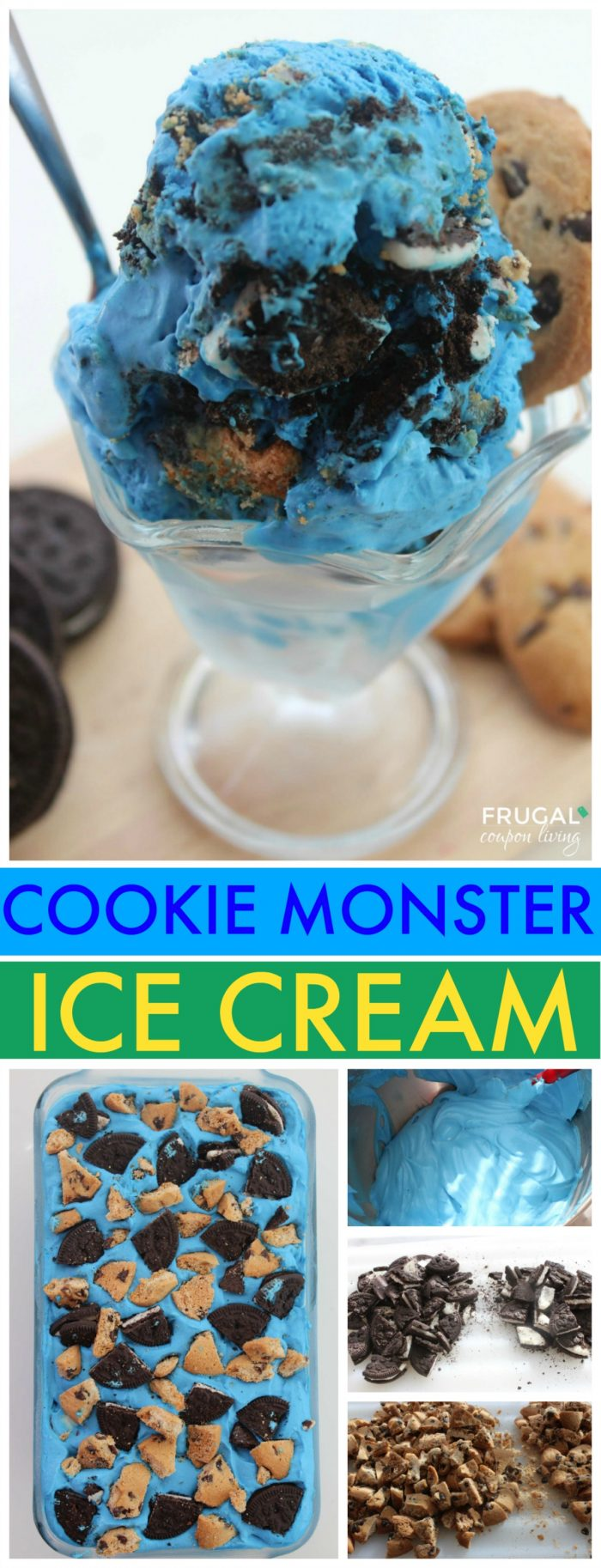 Easy Cookie Monster Ice Cream