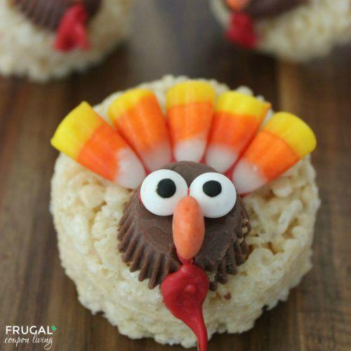 Turkey-Thanksgiving-Krispie-Treats-Frugal-Coupon-Living-500-square