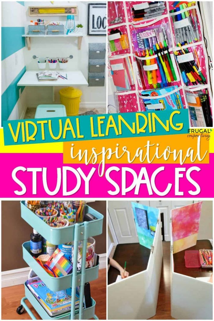 Virtual Learning Kids Study Spaces