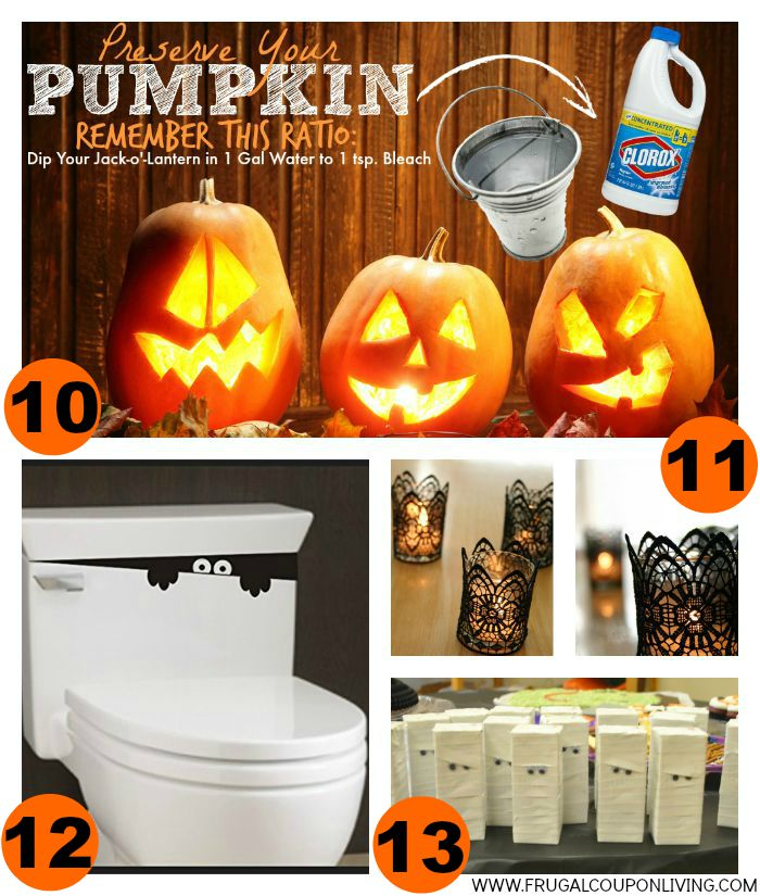 3-Halloween-Hacks-Tips-Collage-Frugal-Coupon-Living
