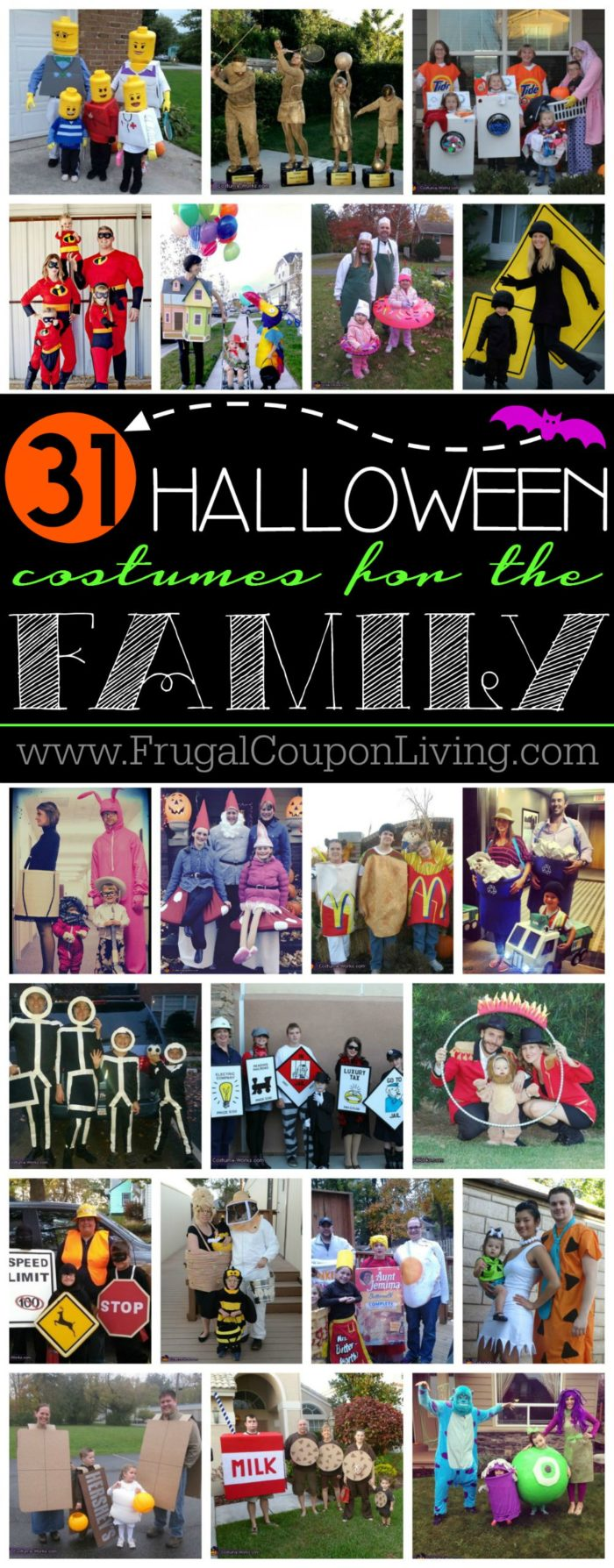 31 Family Halloween Costume Ideas on Frugal Coupon Living