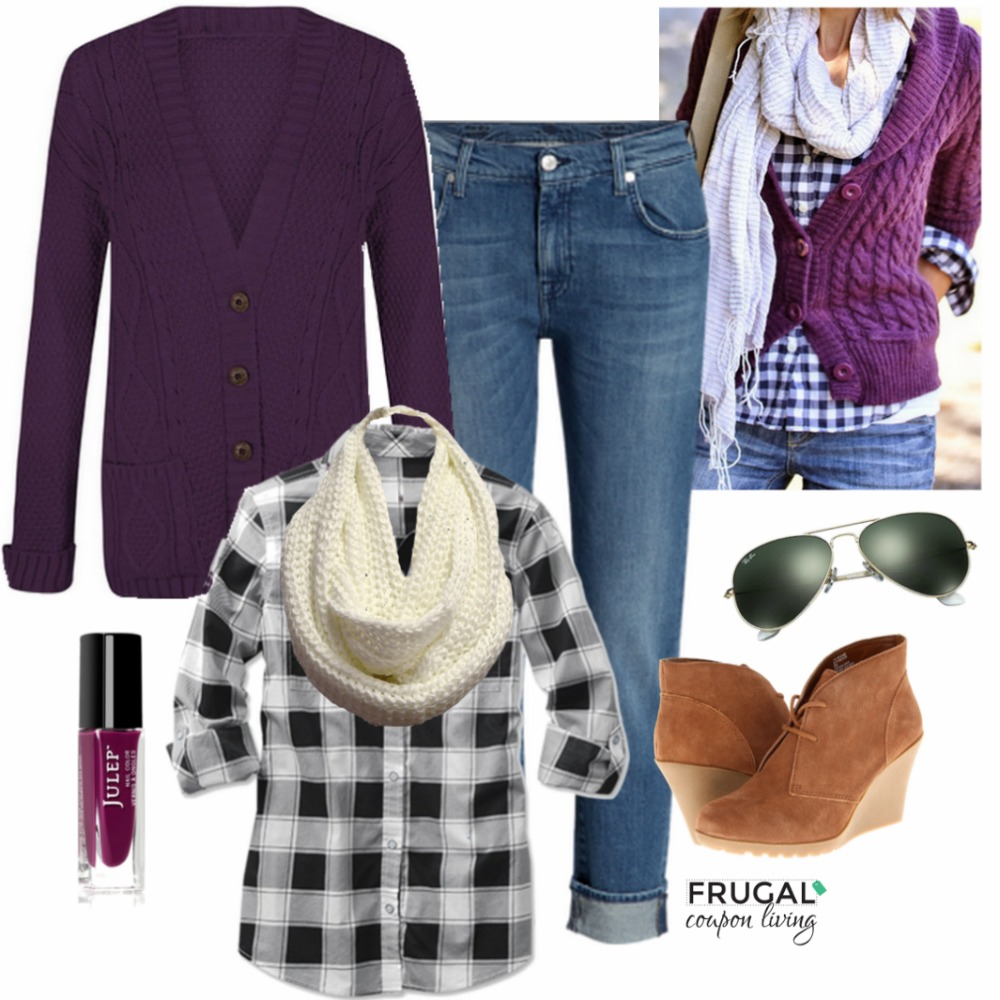 Frugal Fashion Friday Purple Fall Outfit Frugal Coupon Living
