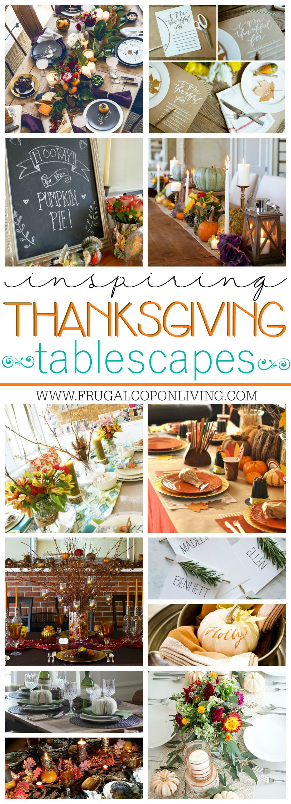 Inspirational Thanksgiving Tablescapes on Frugal Coupon Living