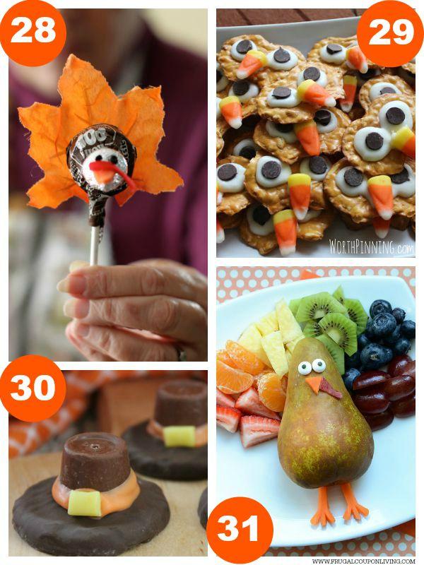 Kid Food Craft Thanksgiving Collage 7