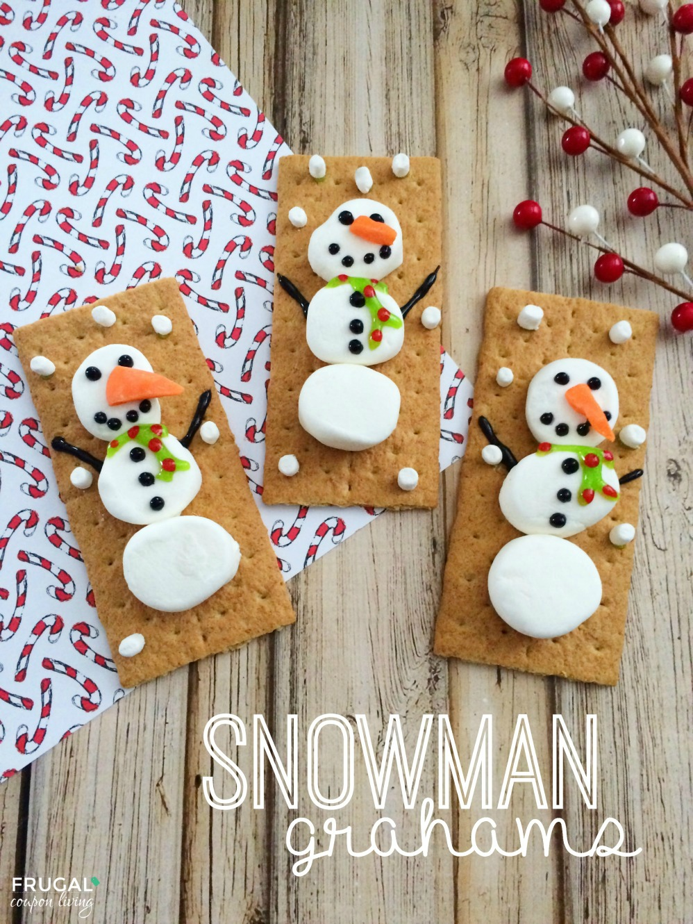Snowman Grahams on Frugal Coupon Living