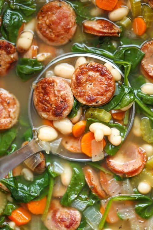 soup-spinach-bean-sausage