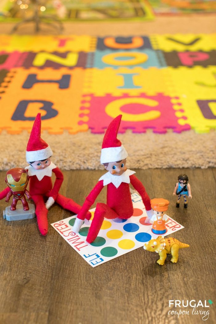 Elf on a Shelf Toddler Ideas | Twister Board Printable & Game