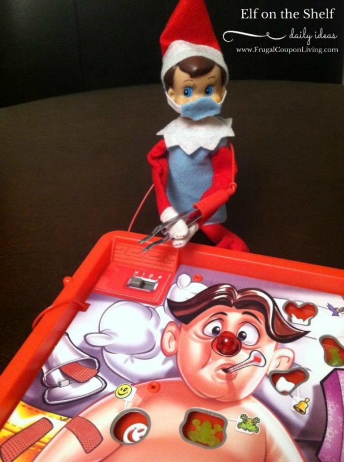 Elf on the Shelf Operation Game + Elf Ideas with Games