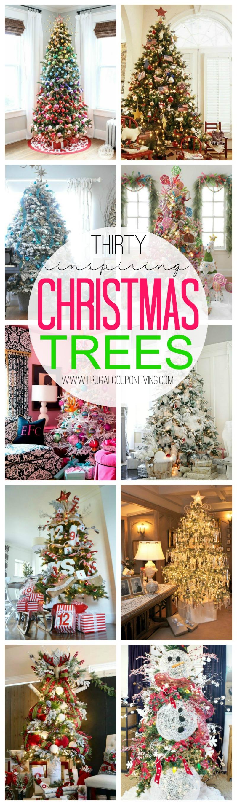 Thirty Inspiring Christmas Trees on Frugal Coupon Living