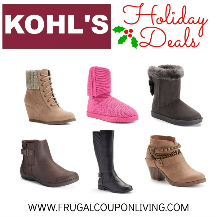 Kohl's: Girls and Women's Boots as low
