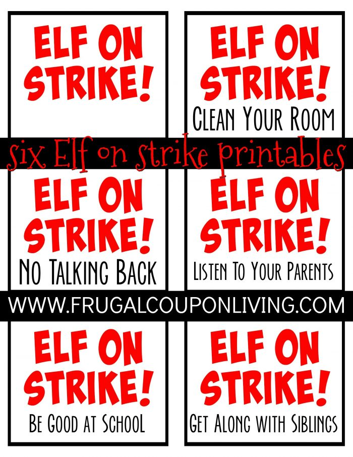 Elf On The Shelf Ideas Elf On Strike Behave At School