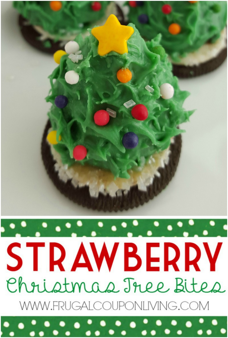 Strawberry Christmas Tree Bites on Frugal Coupon LIving collage